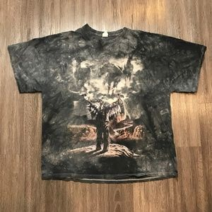 Vintage 90s Native American Distressed T-shirt